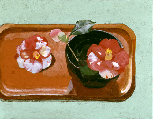 庭先の花 F6号.'04