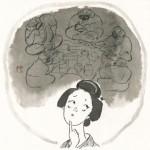 『夜市の女〜とびきり屋見立て帖』挿絵